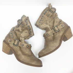 Not Rated | Studded Harness Moto Ankle Boots 8